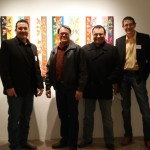 SEIAA artists at MoCNA: Tony Tiger, Troy Jackson, Roy Boney, Jr. and Bobby Martin (L to R)
