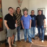 Hanging out with fellow artists in Santa Fe (Indian Market 2013) at Sallyann Paschall home/studio (beautiful), with Bob Martin, Troy Jackson, Ben Harjo Jr.